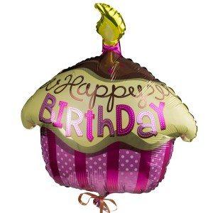 "Heliumballon ""Happy Birthday Cupcake"""