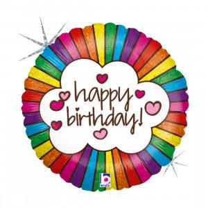 "Heliumballon ""Happy Birthday Rainbow"""