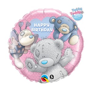 "Heliumballon ""Happy birthday' (Tatty Teddy)"""