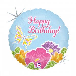 """Heliumballon """"Happy Birthday Vlinder"""""""