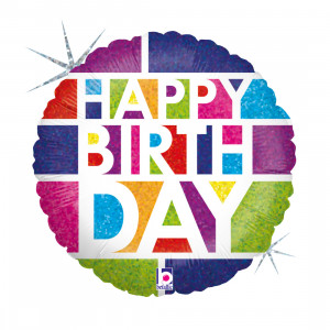 "Heliumballon ""Kleurige Verjaardag"""