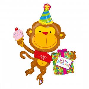 """Heliumballon """"Verjaardagsaapje"""""""