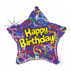 "Heliumballon ""Verjaardagsster"""