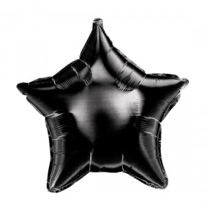 "Heliumballon ""Zwarte Ster"""