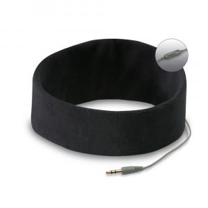 Hoofdband met koptelefoon (zwart)