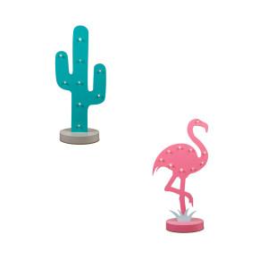 Hout cactus met LED-verlichting
