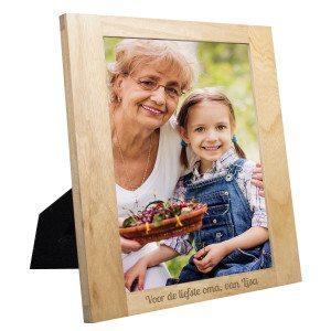 Houten fotolijst met gravure - persoonlijke gravure - NL