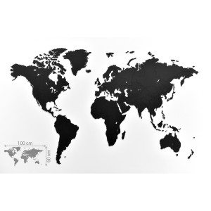 "Houten wandpuzzel ""Wereldkaart"" - totaal"