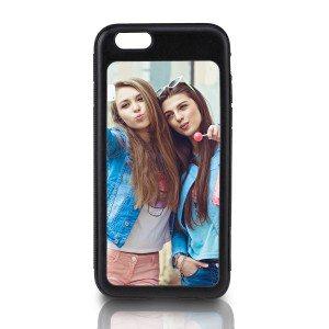 iPhone 6-cover met eigen foto - zwart