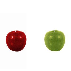 """Kaars """"Appel""""  - keuze uit twee kleuren"""