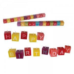 Kaarsen 'Happy Birthday'