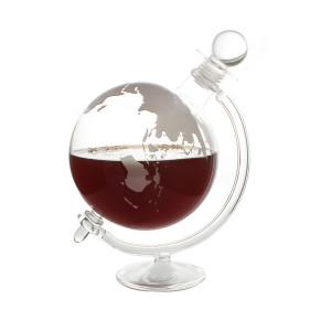 Decanteerkaraf in de vorm van een wereldbol