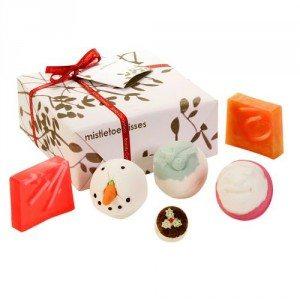 Kerst-badgeschenken in mooie doos