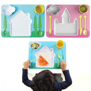 Kinderbestek - complete set inclusief bord