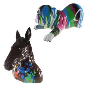 Kleurrijke dierensculptuur – uniek kunstobject