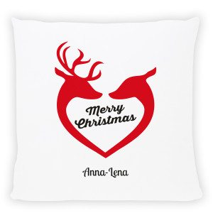 "PERSONALIZED PILLOW ""DEER HEART"""