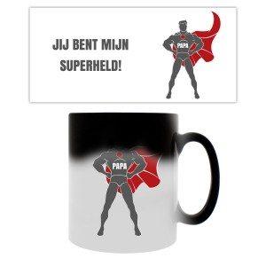 Magische mok met superheldopdruk