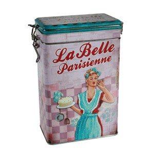 Metalen koffiedoos 'La belle Parisienne'