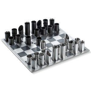 Metalen schaakbord van Philippi