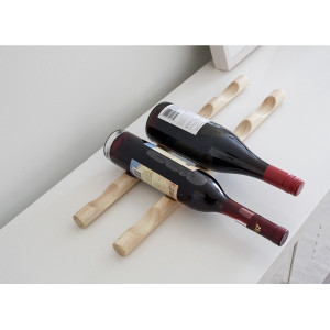Minimalistisch wijnrek