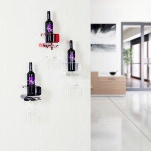 Modern wijnrek voor fles en glazen