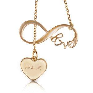 """Halsketting """"Love"""" met twee hangers - een ormantisch cadeau"""