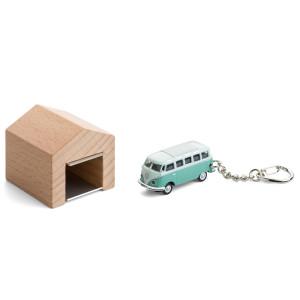 Oldtimer sleutelhanger met 'garage'