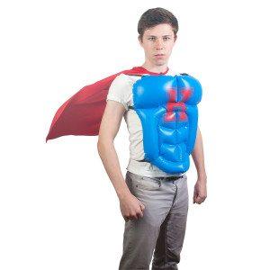 Opblaasbaar superhelden-pak verpakking