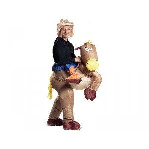 """Opblaaspak """"cowboy met paard"""""""