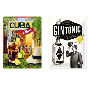 "Ophangbord ""Gin Tonic"" of ""Cuba Libre"" - leuke woondecoratie"