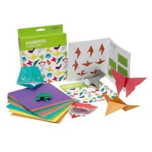 Origami-set met 100 vellen gekleurd papier
