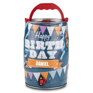 "Partyvat met 5 liter bier - ""Happy Birthday"""