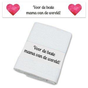 Personaliseerbare handdoek met hartjes