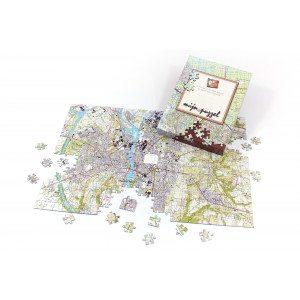 Personaliseerbare stadskaart-puzzel