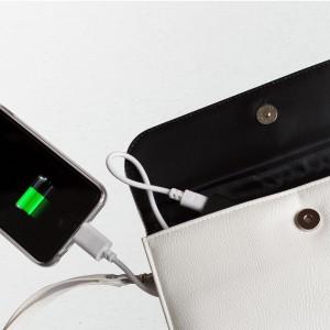 Portemonnee met powerbank voor smartphones