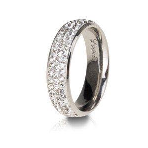 Ring met steentjes en gravure