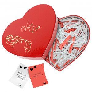 Romantische verrassingsbox met persoonlijke gravure