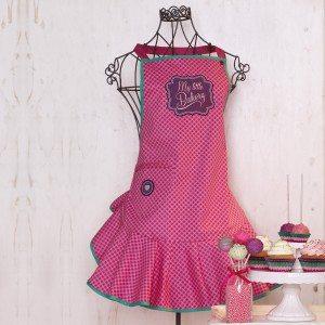 Roze schort uit de jaren 50
