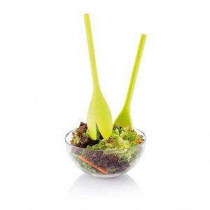 """Saladebestek en dressing shaker """"tulp"""""""