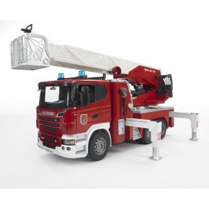 Scania R-serie brandweerladderwagen + waterpomp