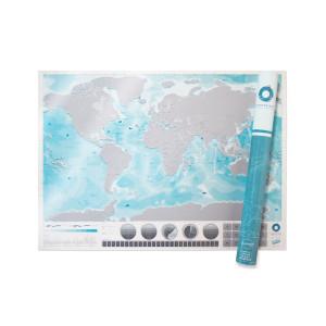 """Scratch Map """"Oceanen"""""""