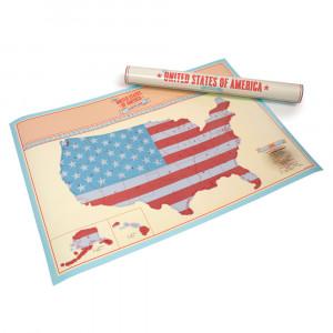 "Scratch Map ""USA"""