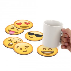 "Set onderzetters ""Emoji"""