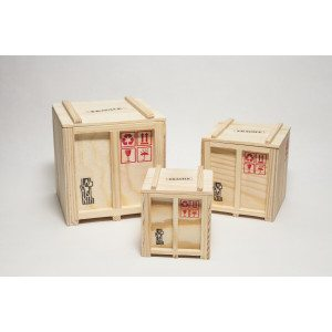 Inbox - Set of 3 designer Shipping boxes