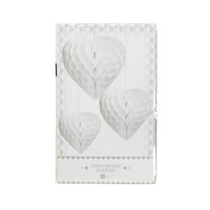 Set van 3 papieren hartjes