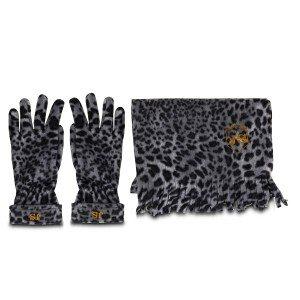 """Sjaal en handschoenen """"Sneeuwluipaard"""" – met initialen"""