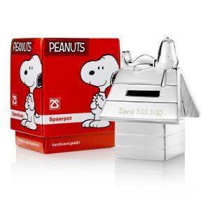 Snoopy spaarpot met gravure