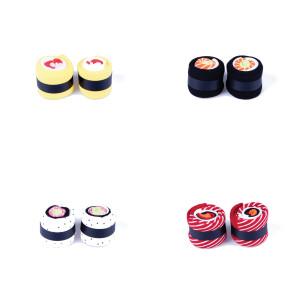 "Sokken ""Sushi"" - vormgegeven als california roll"