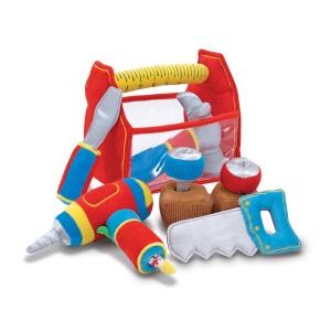 Speelgoed gereedschapskist van stof