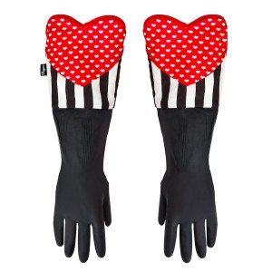 Spoelhandschoenen met hart voor vrouwen